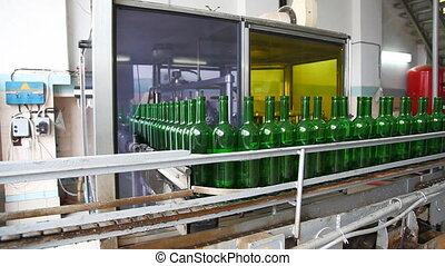 Wine conveyor sequence - Wine factory