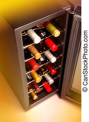 Wine cooler in home basement