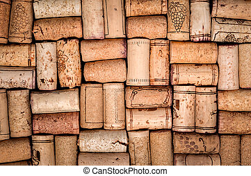 Wine corks background - Wine corks heap closeup background