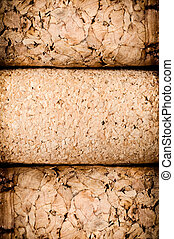 Wine corks heap closeup background