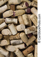 Wine corks - Close-up of group of wine corks