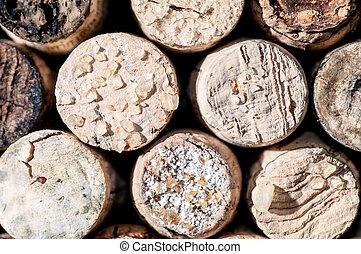Wine Crystals on old Corks