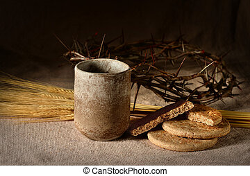 Wine Cup, Breadand Crown of Thorns