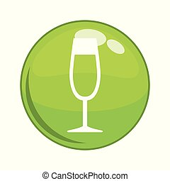 wine cup button icon