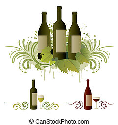 wine design element - wine themed design element