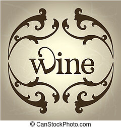 wine design over gray background vector illustration