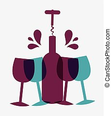 Wine design. - Wine design over white background, vector ...