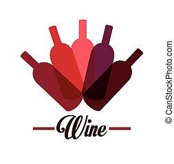 Wine design. - Wine design over white background, vector...