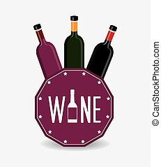 Wine design. - Wine design over white background, vector...