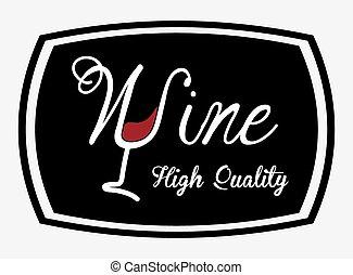 wine design  - wine graphic design , vector illustration