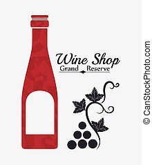 Wine digital design. - Wine digital design, vector...