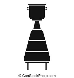Wine distillery equipment icon, simple style