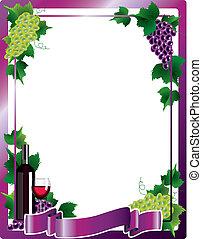 Wine frame background vector illustration