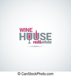 wine glass and bottle background
