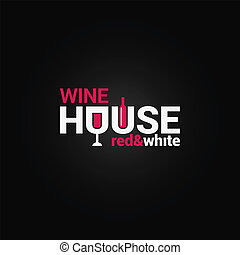 wine glass and bottle design background