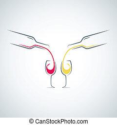 wine glass bottle concept menu background
