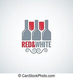 wine glass bottle design vector background