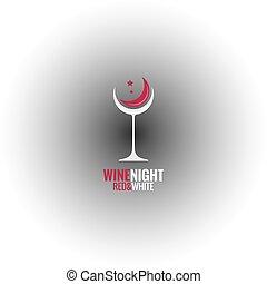 wine glass concept design background