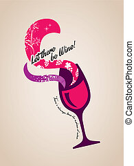 wine glass concept Illustration - wine glass splash with...