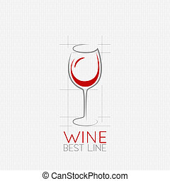 wine glass design background