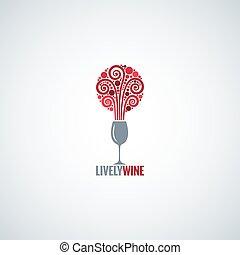 wine glass design concept background