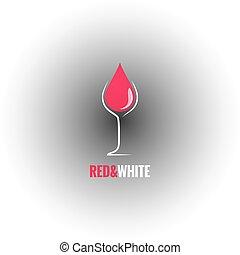 wine glass design drop background