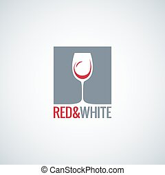 wine glass design vector background