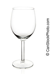 Wine glass - Empty wine glass placed on white background
