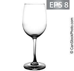 Wine Glass. EPS 8 Vector illustration