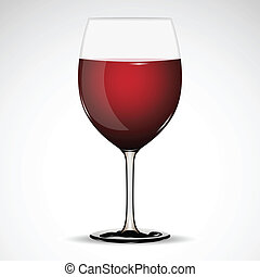 Wine Glass - illustration of glass full of wine on abstract...