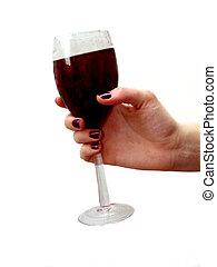 wine glass hand