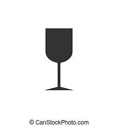 Wine glass icon. Vector illustration, flat design.