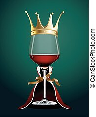 Wine glass in Princess Cloth - Vector of Wine glass in...