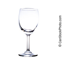 wine glass. isolated on a white background.