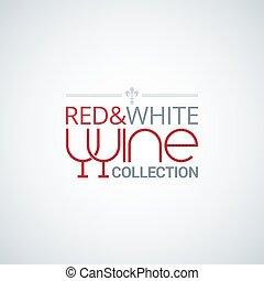 wine glass label design vector background