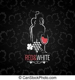 Wine Glass Logo Design Background