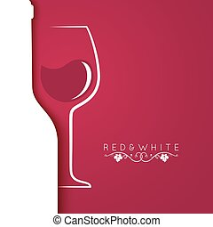 wine glass logo menu design background