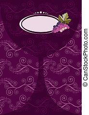 Wine glass menu composition