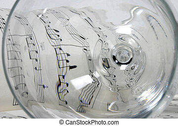 glass on music