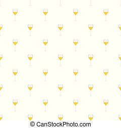 Wine glass pattern seamless vector