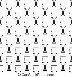 Wine glass seamless pattern