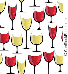 wine glass seamless vector
