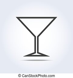 Wine glass simple web icon. Vector illustration