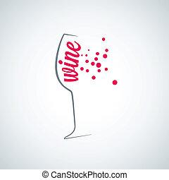 wine glass splash menu background