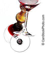 Wine Glass Tilted