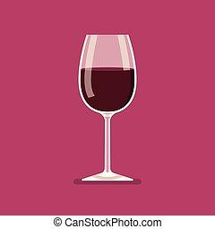Wine glass vector illustration