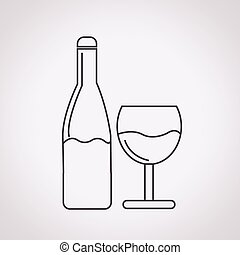 Wine glass with bottle icon