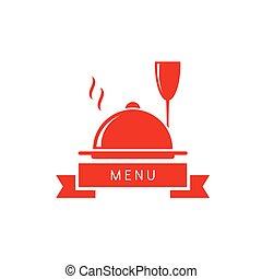 wine glass with dish restaurant menu