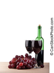 wine glass with grape