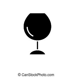 wine glasses -  icon, vector illustration, black sign on isolated background